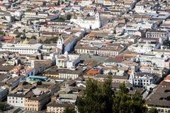 Панорамный взгляд города Кито, эквадора Стоковое фото RF