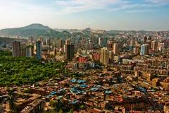 панорамный взгляд города, Ланьчжоу, Ганьсу, Китая Стоковое фото RF