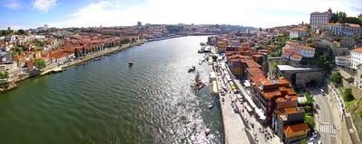 Панорамный взгляд города Порту, Португалии Стоковая Фотография