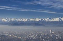 Панорамный взгляд города Турина Стоковое Изображение RF