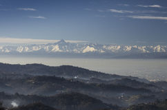 Панорамный взгляд города Турина Стоковые Фото
