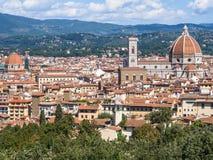 Панорамный взгляд города Флоренса Стоковое Изображение RF