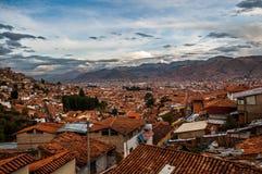 Панорамный взгляд города Cusco Стоковые Изображения RF
