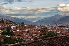 Панорамный взгляд города Cusco Стоковая Фотография