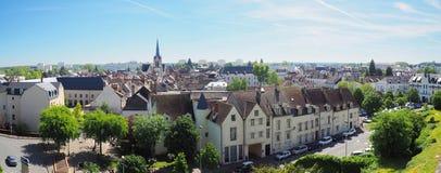 Панорамный взгляд города Montargis стоковая фотография rf