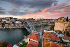 Панорамный взгляд города Oporto Стоковая Фотография