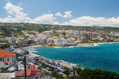 Панорамный взгляд городка Rethymno Стоковые Фотографии RF