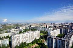 Панорамный взгляд городской местности Стоковое Фото