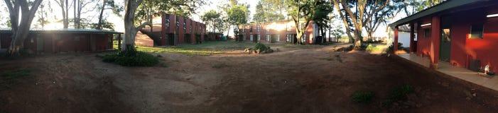 Панорамный взгляд гостиницы леса Стоковые Фото