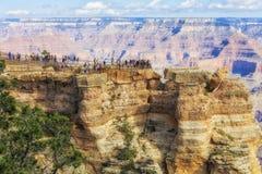Панорамный взгляд гранд-каньона, точки зрения на южной оправе Стоковые Изображения RF