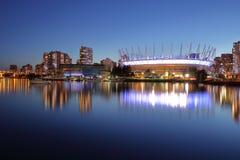 Панорамный взгляд ДО РОЖДЕСТВА ХРИСТОВА для того чтобы установить стадион Канада vancouver Стоковое Фото