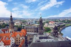 Панорамный взгляд Дрездена Стоковые Изображения