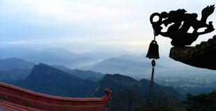 Панорамный взгляд держателя Qingcheng, провинции Сычуань, Китая стоковое фото