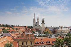 Панорамный взгляд Загреба Стоковое фото RF