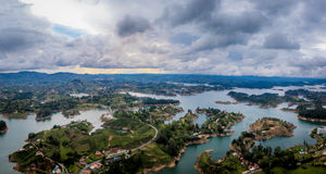 Панорамный взгляд запруды Penon - Колумбии Guatape Стоковое Изображение