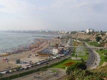 Панорамный взгляд залива Лимы от Chorrillos Стоковые Изображения