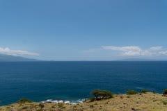 Панорамный взгляд залива Maalaea, Мауи стоковая фотография rf