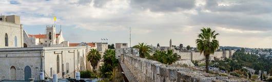 Панорамный взгляд Иерусалима в Израиле Стоковые Фото