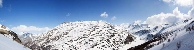 Панорамный взгляд итальянки Альпов Стоковая Фотография RF