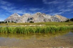 Панорамный взгляд итальянки Альпов Стоковое Изображение RF