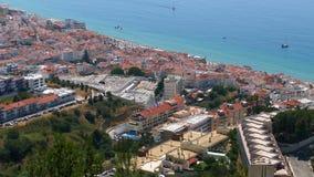 Панорамный взгляд курортного города видеоматериал