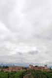 Панорамный взгляд Ла Альгамбра Гренада стоковые изображения