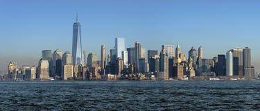Панорамный взгляд Манхаттана, Нью-Йорка Стоковое Изображение RF