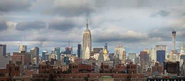 Панорамный взгляд Манхаттан новые США york Стоковое Изображение RF