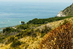 Панорамный взгляд моря в Maratea Италия Стоковое Изображение RF
