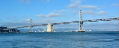 Панорамный взгляд моста залива Окленд Стоковые Изображения RF