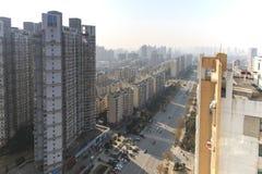 Панорамный взгляд Наньчана, столица Jianxi, в полдень стоковые изображения rf