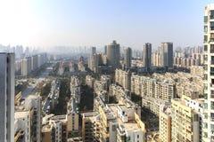 Панорамный взгляд Наньчана, столица Jianxi, в полдень стоковая фотография