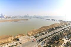 Панорамный взгляд Наньчана, столица Jianxi, в полдень стоковая фотография rf