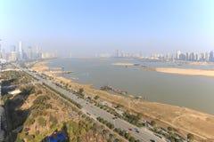 Панорамный взгляд Наньчана, столица Jianxi, в полдень стоковое фото rf