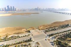 Панорамный взгляд Наньчана, столица Jianxi, в полдень стоковое изображение rf