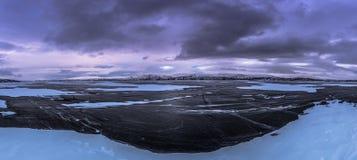 Панорамный взгляд национального парка Abisko, Швеции стоковые изображения
