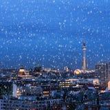 Берлин в зиме Стоковое Изображение RF