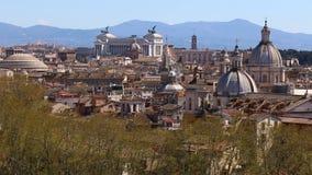Панорамный взгляд на крышах Рима, Италии горизонт rome Съемка укладки в форме акции видеоматериалы