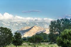 Панорамный взгляд на долине - острове Krk, Хорватии Стоковое Фото