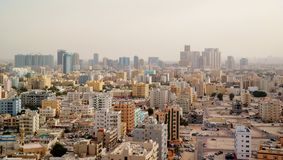 Панорамный взгляд на Ajman ОАЭ стоковое фото rf