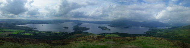 Панорамный взгляд озера Lomand Стоковое Изображение