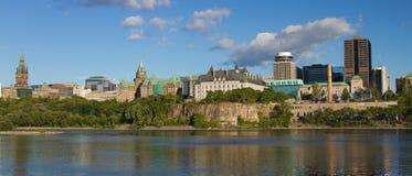 Панорамный взгляд Оттавы, Канады Стоковые Изображения