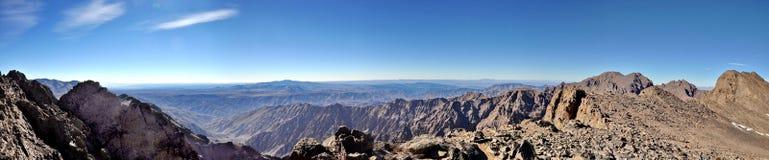 Панорамный взгляд от держателя Toubkal Стоковое фото RF
