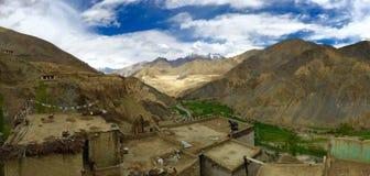 Панорамный взгляд от монастыря Lamayuru Стоковые Фото