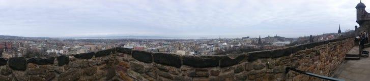 Панорамный взгляд от утеса замка Стоковое Изображение