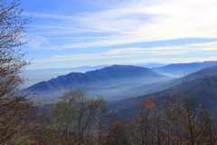 панорамный взгляд долины Стоковое фото RF