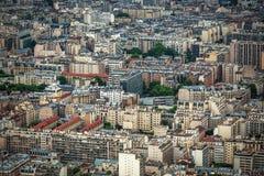 Панорамный взгляд Париж стоковое изображение rf