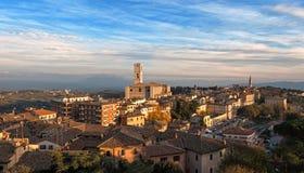 Панорамный взгляд Перуджа - Италии Стоковое Изображение RF