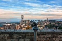 Панорамный взгляд Перуджа - Италии Стоковая Фотография