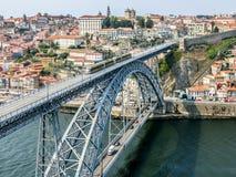 Панорамный взгляд Порту, Португалии Стоковая Фотография RF